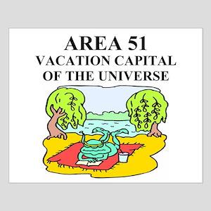 unny ufo alien abduction area Small Poster