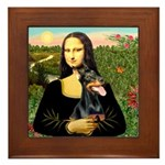 Mona's Doberman Framed Tile