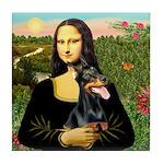 Mona's Doberman Tile Coaster