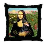 Mona's Doberman Throw Pillow