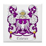Esteves Family Crest Tile Coaster