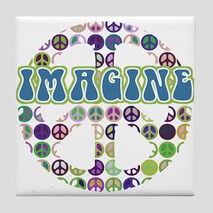 Imagine World Peace Tile Coaster
