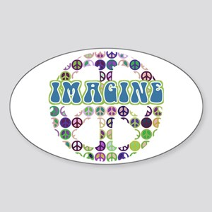 Imagine World Peace Oval Sticker