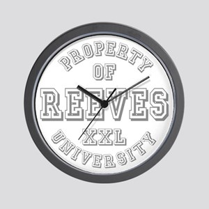 Property of Reeves University Wall Clock