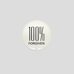 100% Forgiven Mini Button