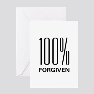 100% Forgiven Greeting Card