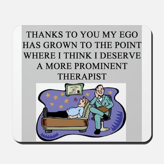 funny psychology psychiatrist Mousepad