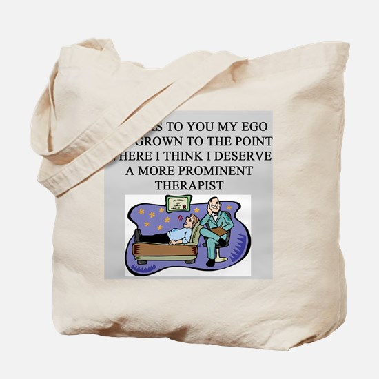 funny psychology psychiatrist Tote Bag