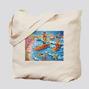 Tandem Surfing with The Duke Tote Bag