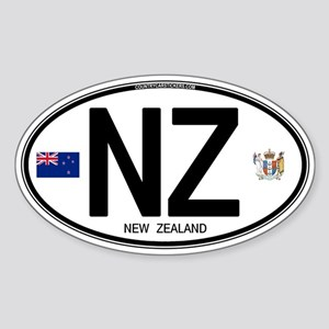 New Zealand Euro Oval Oval Sticker