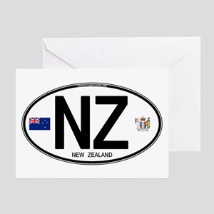 New Zealand Euro Oval Greeting Card