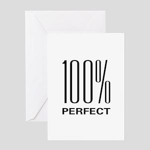 100% Perfect Greeting Card