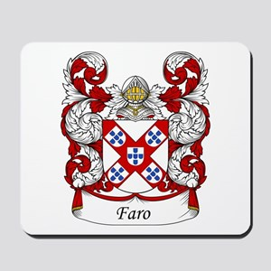 Faro Family Crest Mousepad