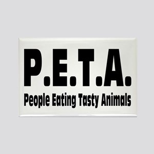 P.E.T.A.- People Eating Tasty Animals. Rectangle M