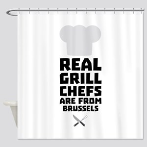 Real Grill Chefs are from Brussels Shower Curtain