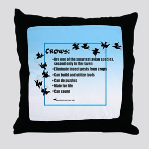 """""""Crows Can"""" - Throw Pillow"""