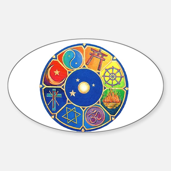 world religion Oval Decal