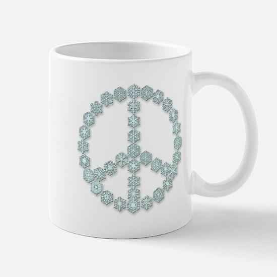 Snowflake Peace Symbol Mug