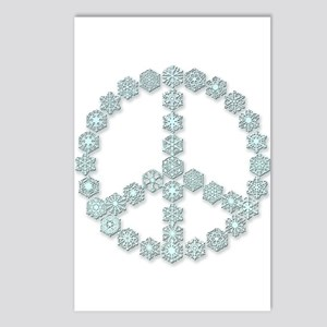 Snowflake Peace Symbol Postcards (Package of 8)