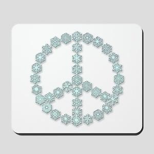 Snowflake Peace Symbol Mousepad