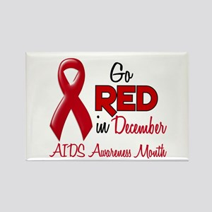 AIDS Awareness Month 1.2 Rectangle Magnet