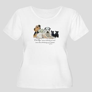 Love Dogs Women's Plus Size Scoop Neck T-Shirt