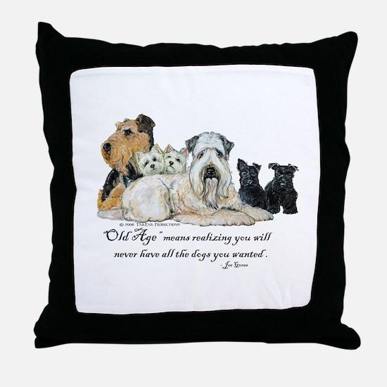 Love Dogs Throw Pillow