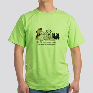 Love Dogs Green T-Shirt