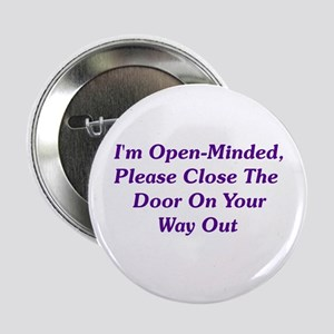 """I'm Open-Minded 2.25"""" Button"""