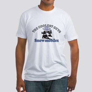 Coolest Guys Snowmobile Fitted T-Shirt