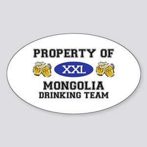 Property of Mongolia Drinking Team Oval Sticker