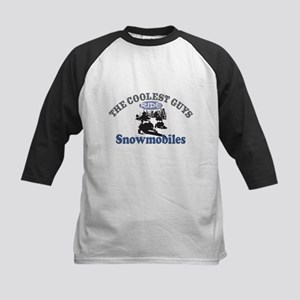 Coolest Guys Snowmobile Kids Baseball Jersey