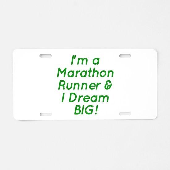 Marathon Runner Aluminum License Plate