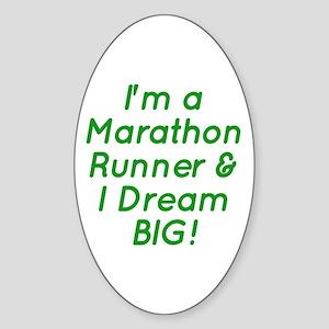 Marathon Runner Sticker