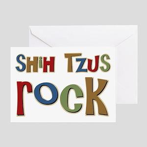 Shih Tzus Rock Dog Owner lover Greeting Card