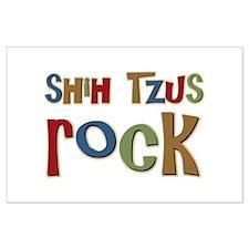 Shih Tzus Rock Dog Owner lover Large Poster