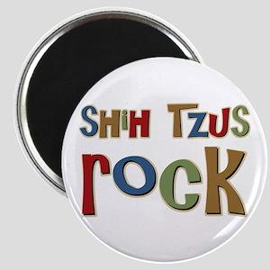 Shih Tzus Rock Dog Owner lover Magnet