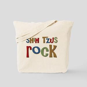 Shih Tzus Rock Dog Owner lover Tote Bag