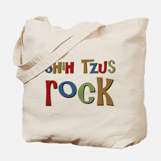 Shih Tzus Rock Dog Owner lover Tote Bag