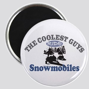 Coolest Guys Snowmobile Magnet