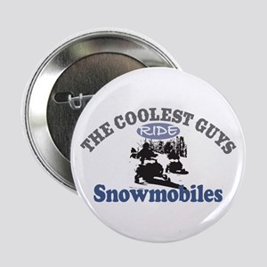 "Coolest Guys Snowmobile 2.25"" Button"