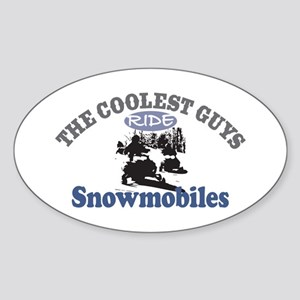 Coolest Guys Snowmobile Sticker (Oval)