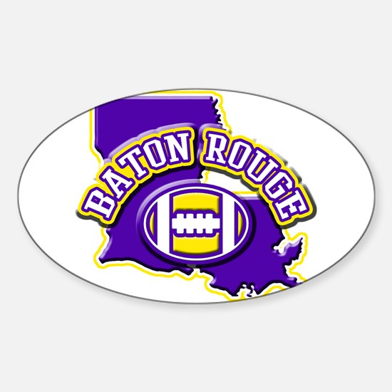 Baton Rouge Football Oval Decal