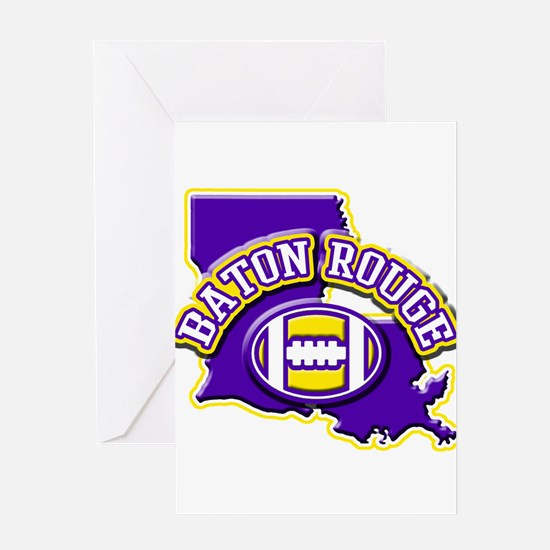 Baton Rouge Football Greeting Card