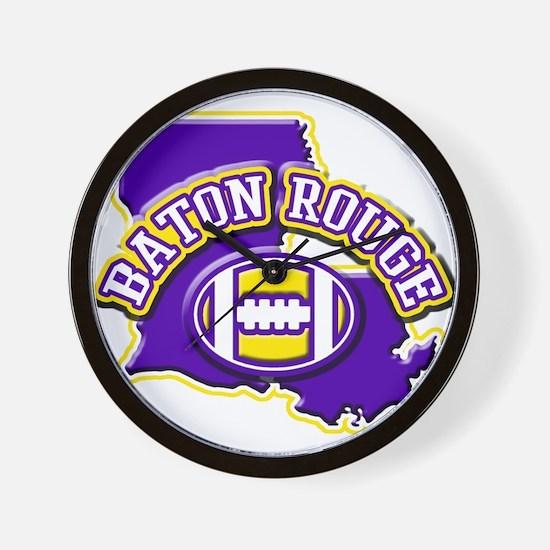 Baton Rouge Football Wall Clock