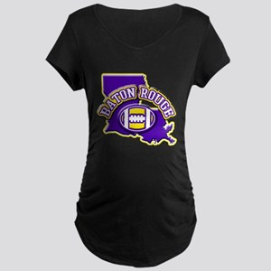 Baton Rouge Football Maternity Dark T-Shirt