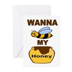 BEE MY HONEY Greeting Cards
