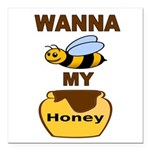 BEE MY HONEY Square Car Magnet 3