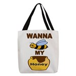 BEE MY HONEY Polyester Tote Bag