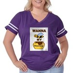 BEE MY HONEY Women's Plus Size Football T-Shirt